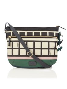 Radley Downtown multi coloured cross body bag