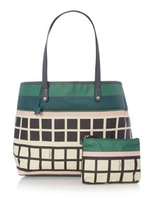 Downtown large multi coloured weekender bag