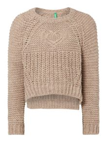 Girls Chunky Crop Jumper