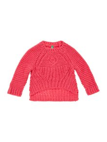 Benetton Girls Chunky Crop Jumper