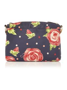 Autumn rose navy medium cross body bag