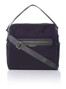 Radley Mercer street navy medium cross body bag