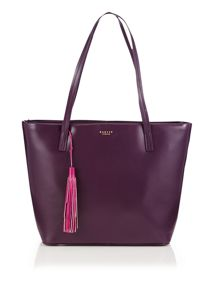Radley De beauvoir large purple tote bag