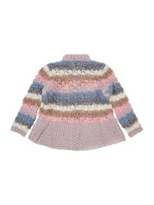 Benetton Girls Stripe Chunky Jumper
