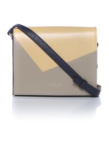 Portman yellow small flapover cross body bag
