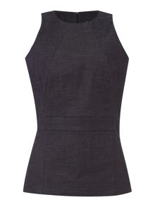 Victoria Beckham Denim Sleeveless peplum top