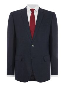 Hugo Boss Hutson Gander Plain Slim Fit Two-Piece Suit