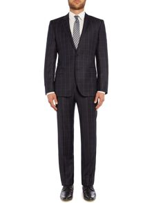 Huge Genius Check Slim Fit Two-Piece Suit