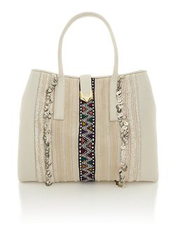 Nomad white large tote bag