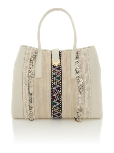 Matthew Williamson Nomad white large tote bag