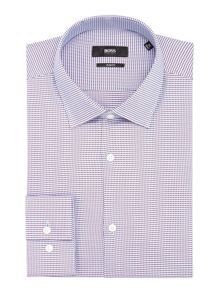 Jenno Check Classic Fit Long Sleeve Classic Colla