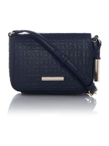 Trisha navy flap over crossbody bag