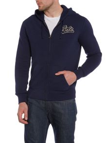 Polo Ralph Lauren Script Logo Zip Through Hooded Sweatshirt