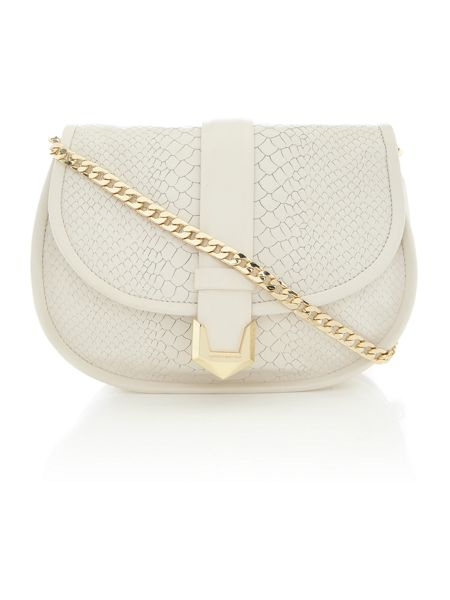 Matthew Williamson Nadia white snake crossbody bag