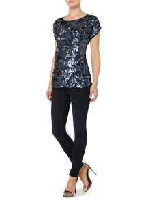 Linea Weekend Britta Sequin Top