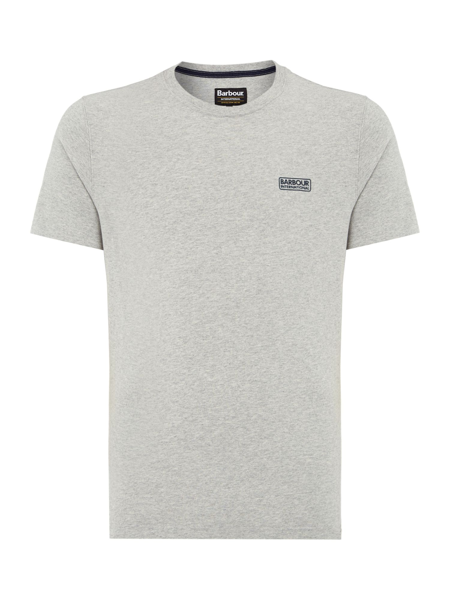 Men's Barbour International small logo T-Shirt, Grey Marl