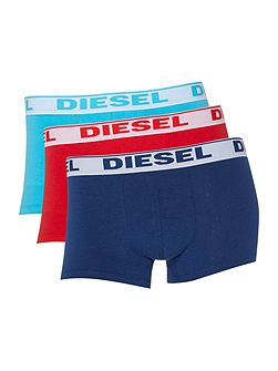 3 Pack of Contrast Waistband Trunk