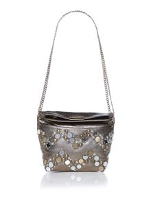 Matthew Williamson Hetty gold embellished crossbody bag