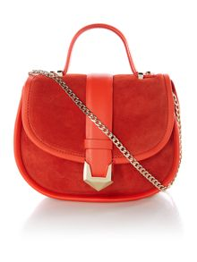 Matthew Williamson Laleh orange flap over crossbody bag