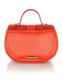 Laleh orange flap over crossbody bag