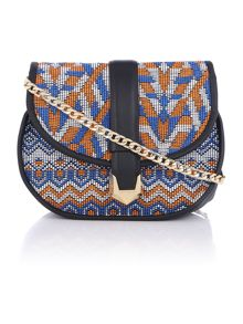 Nadia multi flap over crossbody bag