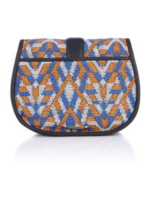 Matthew Williamson Nadia multi flap over crossbody bag