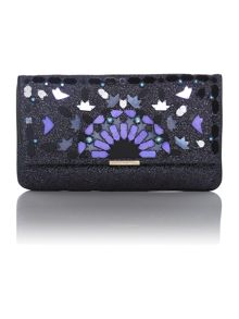 Beau purple embellished clutch bag