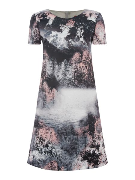 Max Mara Woodland print dress