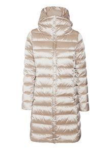 Mogador long padded coat with removable hood
