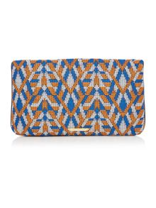 Matthew Williamson Laleh multi coloured fold over clutch bag