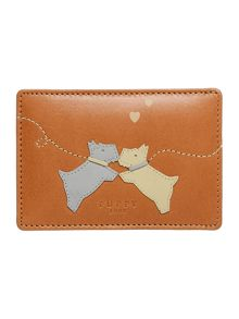 Puppy love tan travel card holder