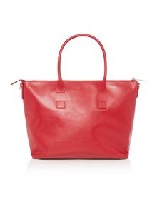 Nappa leather red tote bag