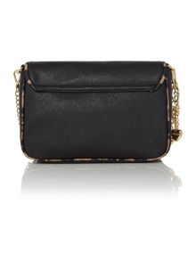 Saffiano with charms pendant crossbody bag
