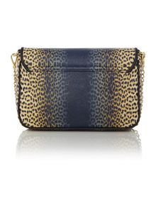 Jewel leopard print multi colour crossbody bag