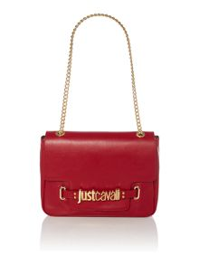 Nappa leather red crossbody bag