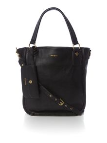 Black tote crossbody bag