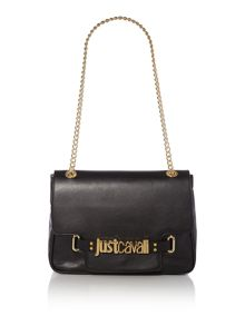 Nappa leather black cross body bag