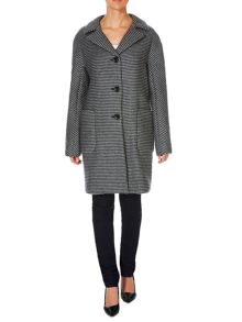 Max Mara Elvira check virgin wool coat