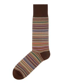 Paul Smith London Striped Ankle sock