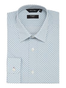 Paul Smith London Print Slim Fit Long Sleeve Classic Collar Shirt
