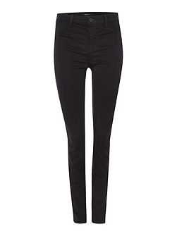 Mid rise luxe sateen super skinny jean in