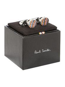 Multistripe button cufflink