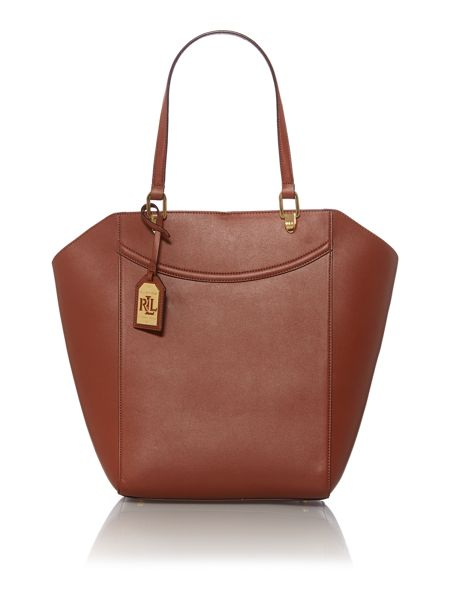Lauren Ralph Lauren Lexington tan medium tote bag