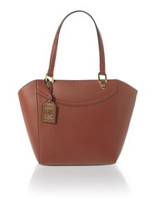 Lexington tan medium tote bag