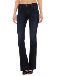 J Brand Maria high rise flare jean in embrace