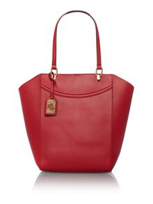 Lexington red large tote bag