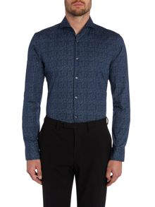 Hugo Boss Dwaine Check Slim Fit Long Sleeve Shirt