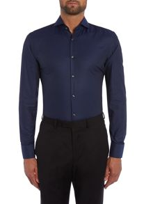 Jason Textured Slim Fit Long Sleeve Shirt