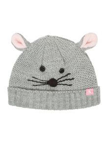 Joules Girls Baby Mouse Knitted Hat