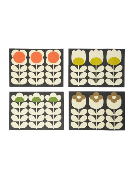 Orla Kiely Multi Coloured Notecards